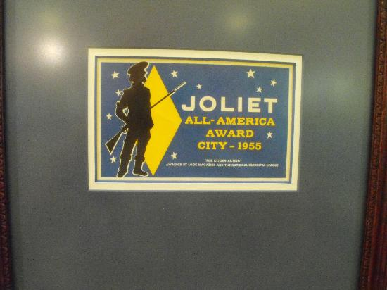 Joliet Area Historical Museum : Joliet was named an All-American City in 1955