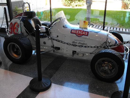 Joliet Area Historical Museum: A midget auto racer