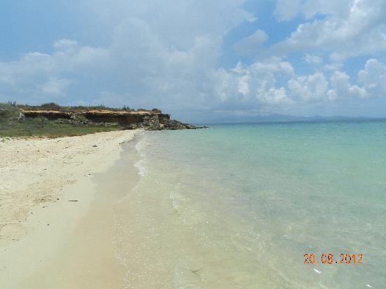 Isla Cubagua: Vista de la playa