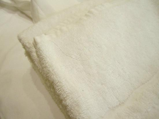 Hotel Imperiale: Hair on fresh towels
