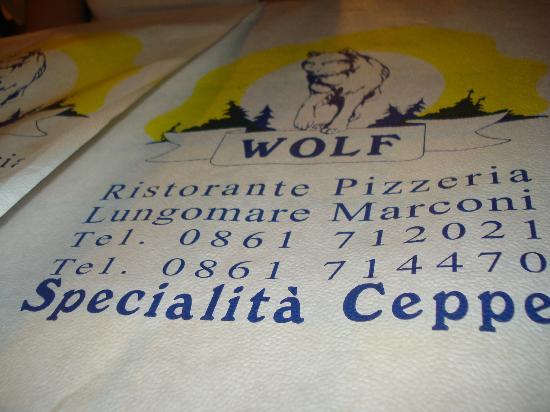 Wolf: Tovaglietta