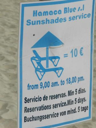 Iberostar Alcudia Park: sun bed costs in Alcudia Playa de muro
