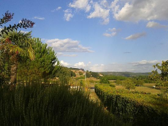 Chateau de Monrecour: Vue de la piscine du Chateau
