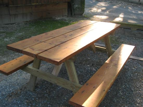 Big Oaks Family Campground: picnic table