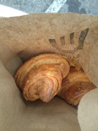 La Baguette: Swiss cheese and herb croissant