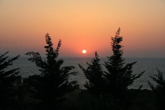 Ephesus Princess: the sunset view from bungalow balcony sept 2008