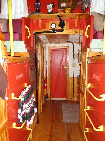 Livingston Junction Cabooses: View of front door
