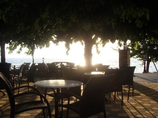 Hotel Panorama: Vue sur la mer depuis la terrasse de l'hôtel Panorama