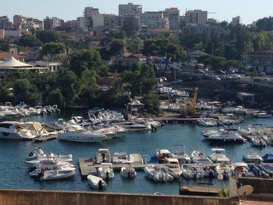 Hotel Ognina Catania: Panorama dalla camera
