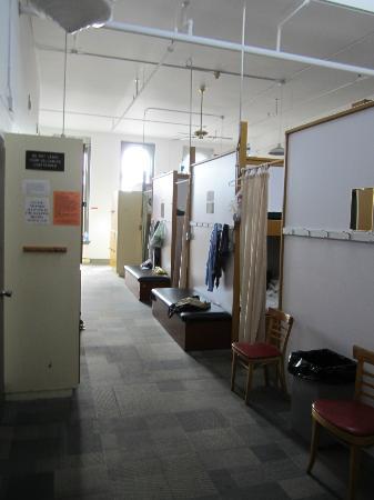 HI Victoria Hostel: View of the 40-guys-dorm from door