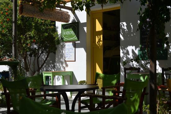 Kafenes: terrace