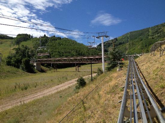 Alpine Coaster: Going up the Coaster
