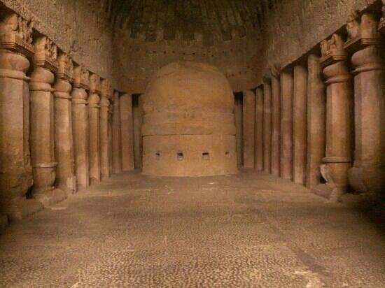 Ancient Buddhist Temple at Kanheri Caves