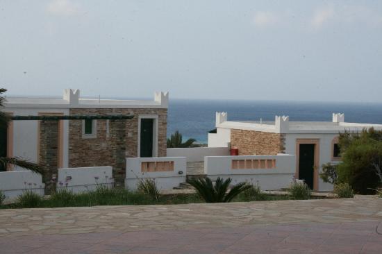 Hotel Kavuras Village: VIsta dalla zona piscina/ristorante