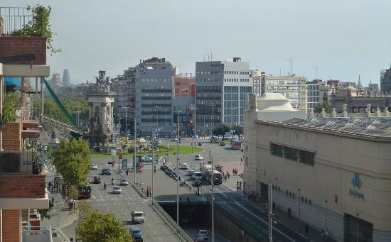โรงแรมอาซุล บาร์เซโลน่า: vista dalla terrazza