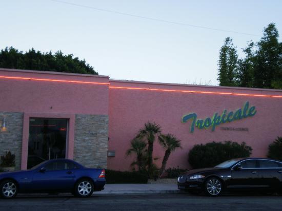 Tropicale: tropical patio, umbrellas, fountain