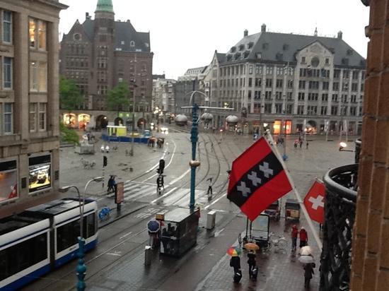 Hotel Amsterdam - De Roode Leeuw: vista desde la habitacion.