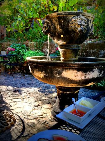 The Chanric Inn: Fountain at breakfast.