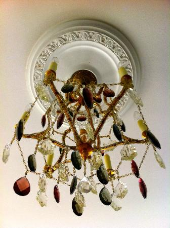La Farge Perry House: Awesome Chandelier in the Master Suite