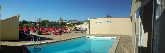 Hotel Les Nevons: Poolbereich auf der Dachterasse