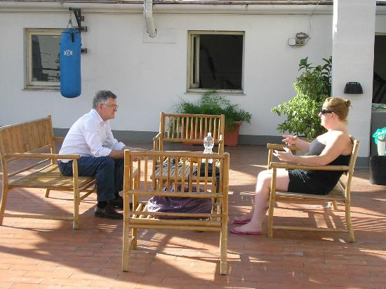 Hotel San Marco: Chatting on the roof terrace