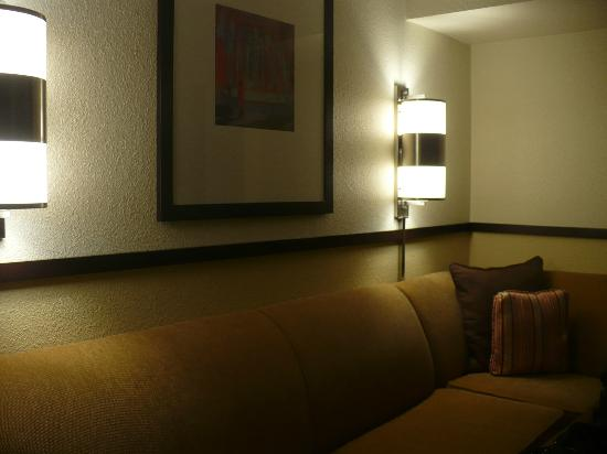 Hyatt Place Cincinnati/Blue Ash: queen sized sofa bed in separate area