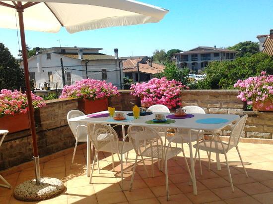 La Casa di Sofia - Casa Vacanza Monterosi : terrazza in Appartamento Gardenia - La Casa di Sofia