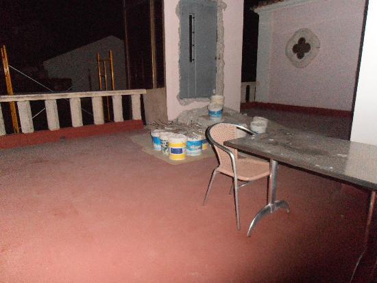 Hotel do Sado Business & Nature: Ripios en la terraza