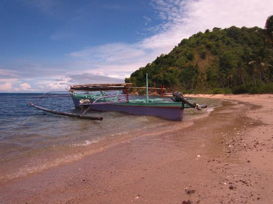 Bentenan Beach Resort: Strand der vorgelagerten Insel Bentenan