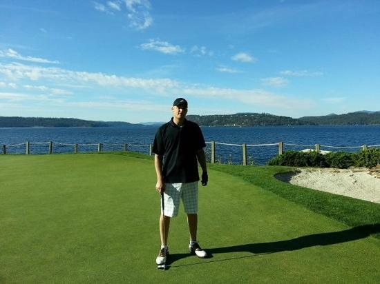 Coeur d'Alene Resort Golf Course: 2nd Hole - Awsome view