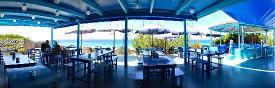 Blue Bar Formentera: Terraza Exteriror