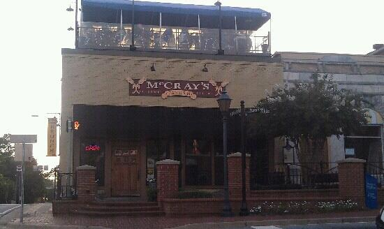 McCray's Tavern on the Square: front of establishment, corner of Perry and Crogan.
