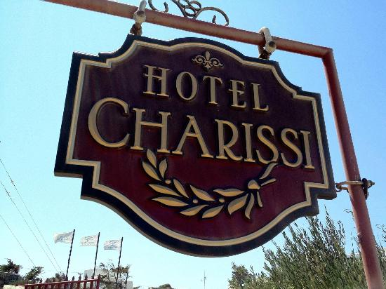 Charissi Hotel: Hotel sign