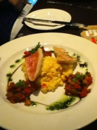 The Brasserie @ Mercure hotel Piccadilly Manchester: red mullet main course
