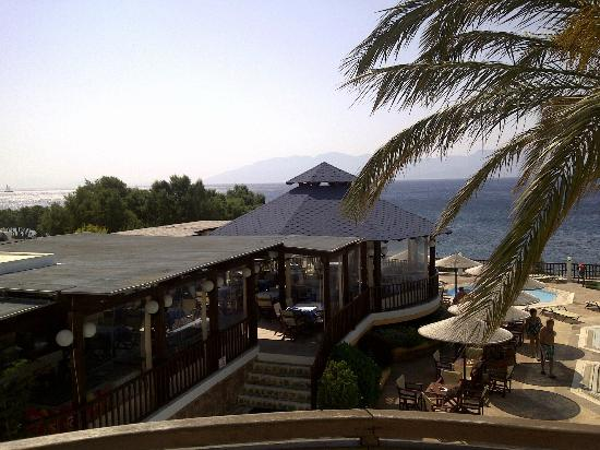 Dimitra Beach Hotel: view from balcony of 2nd bedroom