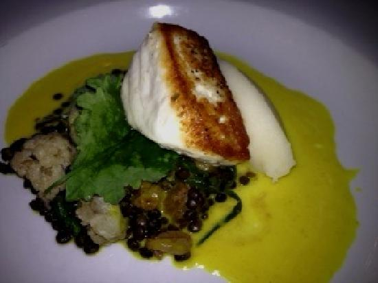 The Common Man: Halibut, we shared an entree, this is half portion.