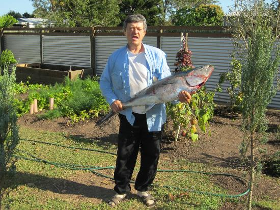 Villa Cavour Bed and Breakfast: Rocco with his catch