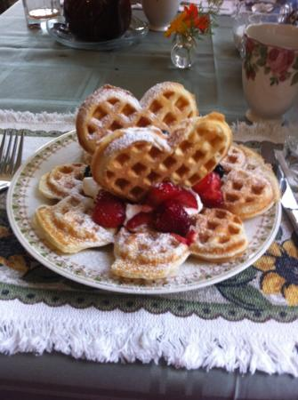 Richmond House B&B: Love waffles
