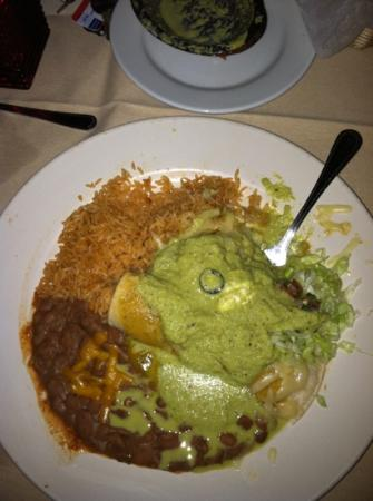 El Serrano : chicken enchiladas with jalapeño garlic green sauce