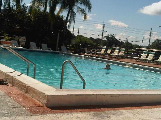 Magnuson Hotel and Marina New Port Richey: relaxing in the pool