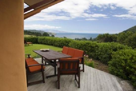 Earthsong Lodge: Great ocean views from the lodge terrace