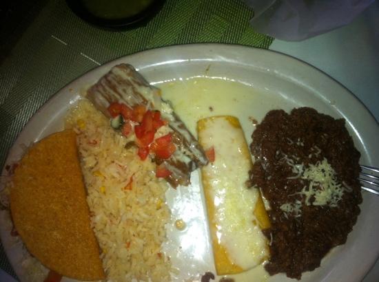 Celi's Mexican Restaurant: Choose 3 combo w/ chicken taco, chicken tamale, & cheese enchilada
