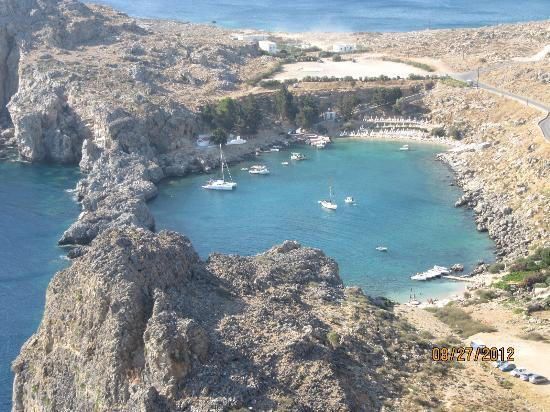 Agios Pavlos Beach (Saint Paul): view from above