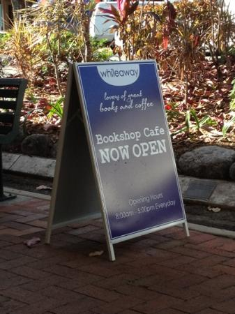 Whileaway Bookshop & Cafe: welcome sign