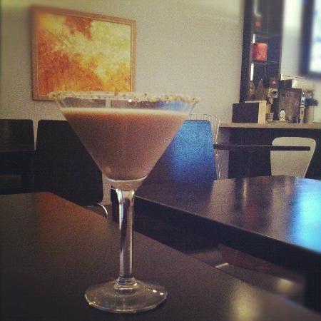 The Chocolate Bar : The Toasted Almond Martini. Soooo good.