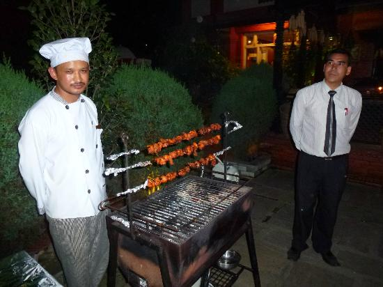 Hotel Encounter Nepal: the famous Mr Badri(fri & sat happy hour with music) and BBQ