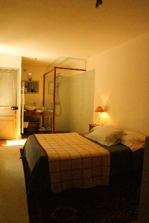A l'ecole buissonniere: la stanza con mega doccia e lavabo a vista