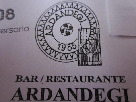 Restaurante Ardandegi: logo