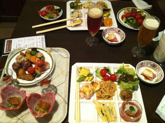 Hotel Hakuba: 1日目の夕食