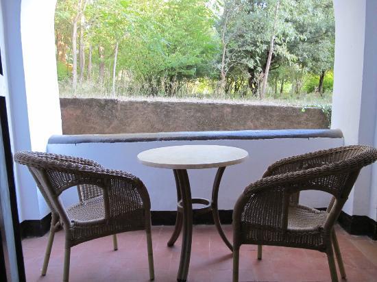 Hotel Monasterio de Piedra & Spa: Terraza habitación nº 114